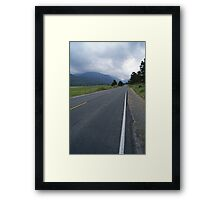 Into the Mountains Framed Print