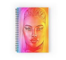 Spiritual, veiled woman, abstract Spiral Notebook