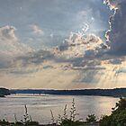 Ohio River sunshine by DevereauxPrints