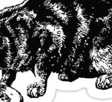 Hungry Cat....Bon Appetit Sticker