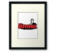 The Brink - Red Framed Print