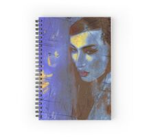 Brunette woman in a beautiful abstract. Spiral Notebook