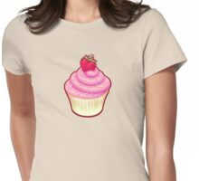 Fluffy Cupcake Love Womens Fitted T-Shirt