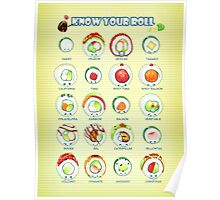 Know Your Roll - Cute Educational Sushi Poster