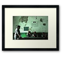 Billiard Boys Framed Print