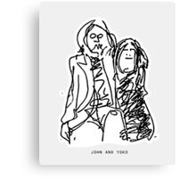 John and Yoko Canvas Print