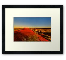 The dune Framed Print