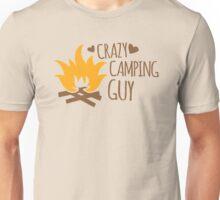 Crazy Camping Guy Unisex T-Shirt