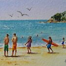 Gentle Surf - Manly Beach by Fiona  Lee