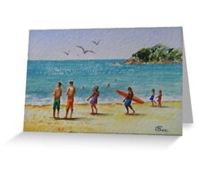 Gentle Surf - Manly Beach Greeting Card