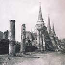 Ayuthaya temple ruins, Thailand, 1977 by John Spies