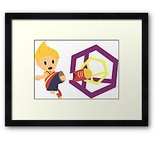 Lucas Super Smash 4 WiiU Framed Print