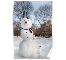 Snowbound Red Sox Fans Poster