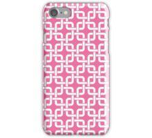 Pink and White Interlocking Squares iPhone Case/Skin