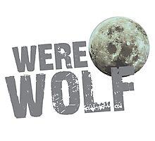 WERE WOLF werewolf with moon Photographic Print
