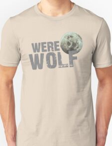 WERE WOLF werewolf with moon Unisex T-Shirt