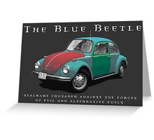 The Blue Beetle Greeting Card