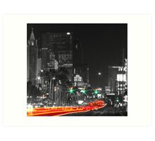 Green and Red on the Strip Art Print