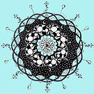 Blue Skies Mandala by eleveneleven