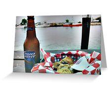 Beer & fried pickles Greeting Card