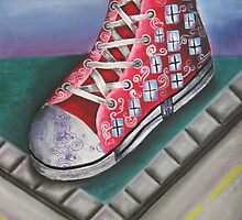 Street feet by corrasion