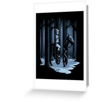 The Walker in the Woods Greeting Card