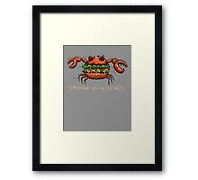 Crab Burger Framed Print