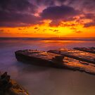 San Diego La Jolla Cove Sunset by photosbyflood