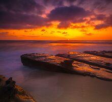San Diego La Jolla Cove Sunset by photosbyflood
