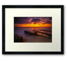 San Diego La Jolla Cove Sunset Framed Print