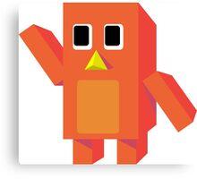 Orange Block Penguin Canvas Print