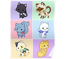 Cute Kittens with Wings! Poster