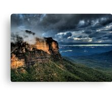 Jamison Valley | The Blue Mountains | Under a Dark Stormy Sky | HDR Canvas Print