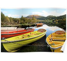 Bright Boats - Grasmere, Lake District Poster