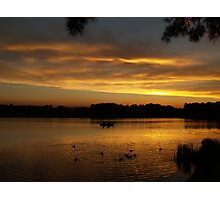 End Of Day On Lake Ginninderra - Canberra Photographic Print