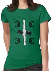 Black Letter Emblem Womens Fitted T-Shirt