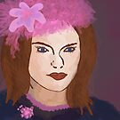With The Pink Flower Hat by amak