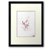 circus #9 trapeze Framed Print