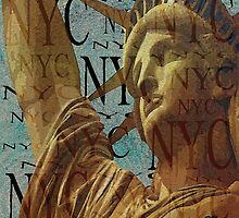 Lady Liberty of New York  by Saundra Myles