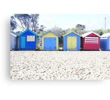 Brighton beach boxes Canvas Print