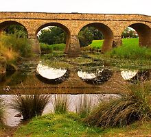 Richmond Bridge reflected, Richmond, Tasmania by Elana Bailey