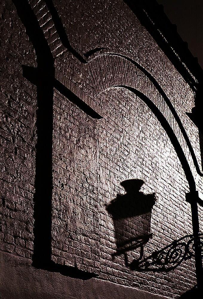 Bruges Lamplight Shadow by ragman