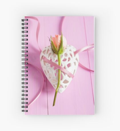 Rose and heart Spiral Notebook