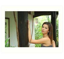 Model shoot in La Mesa Ecopark 5 Art Print