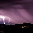 Lightning strikes near the National Arboretum by glennsphotos