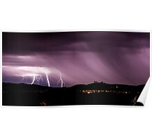 Lightning strikes near the National Arboretum Poster