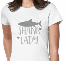 Shark Lady Womens Fitted T-Shirt