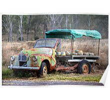 Semi-Retired Austin A40 - Moonford, Queensland, Australia Poster
