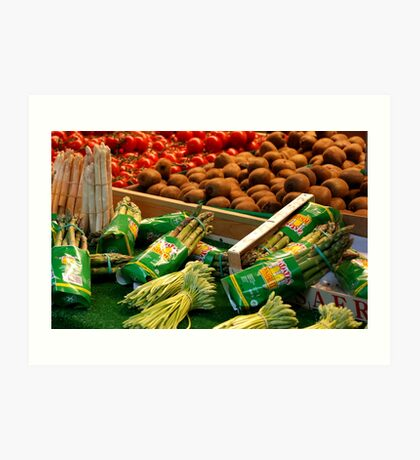 Springtime in a French Market Art Print