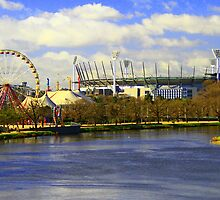 The Yarra River and The MCG, Melbourne. by Petehamilton
